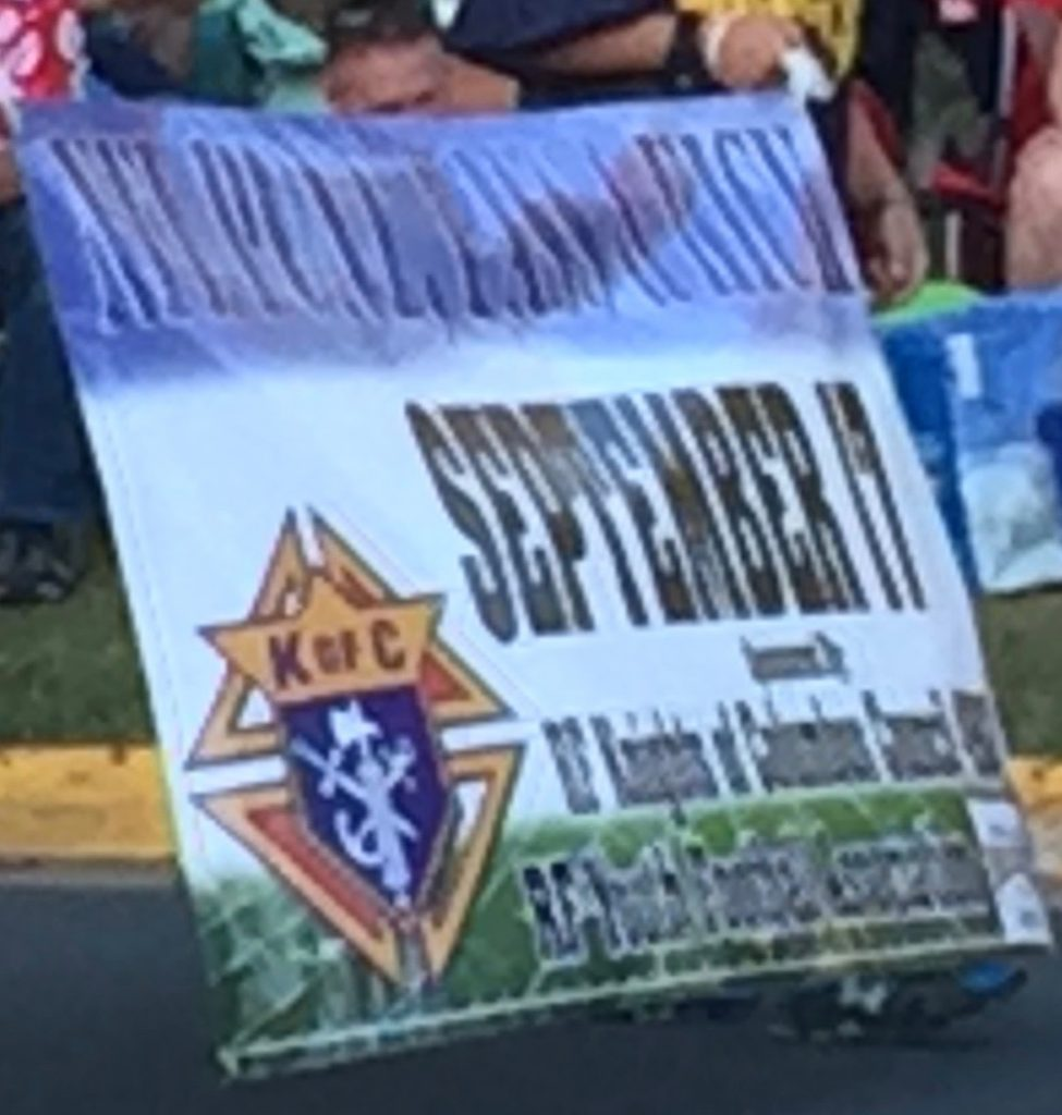 Banner at Parade for PPK (6-8-16)